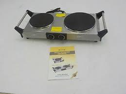 duxtop 1800w portable electric cast iron cooktop countertop double burner