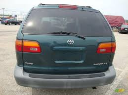 1998 Dark Green Metallic Toyota Sienna LE #32898196 Photo #9 ...