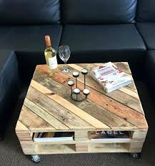 pallet coffee table on wheels 30