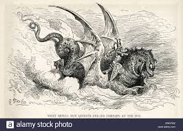 sea monster illustration. Delighful Sea Knight And The Sea Monster Illustration By Gustave Dore From Don Quixote   Stock In Monster E