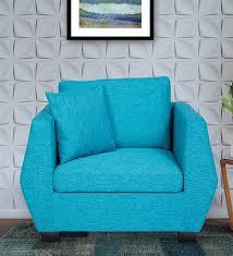 modena 1 seater sofa in blue colour