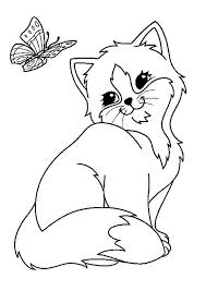 Poes Vlinder Kleurplaat Desenler Ve çizimler Kleurplaten Dieren