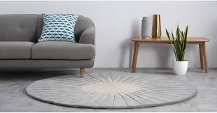 vaserely large circular wool rug 200cm grey rugs home accessories made com