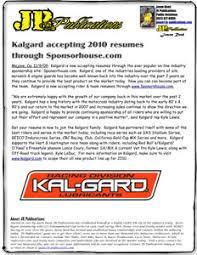 Kalgard Oils 2010 Resume Information .