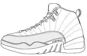 Image Result For Jordan 12 Coloring Pages Shoe Mandel In 2019