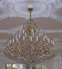 the 48 flames maria theresa chandelier gold brass extended
