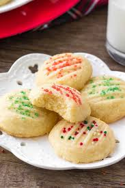 This is an ideal recipe to make with kids. Whipped Shortbread Cookies Just So Tasty