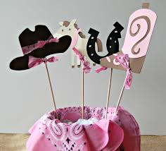 Cowgirl Birthday Decorations Cowgirl Birthday Party Centerpiece Western Party Decorations