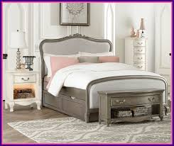Appealing Kensington Silver Finish Katherine Full Size Bed With Trundle  Pict Of Queen Anne Bedroom Furniture