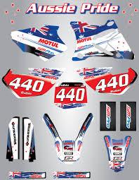 Yamaha Xtz 125 Decals Design Details About Full Custom Graphic Kit Aussie Pride Yamaha Xtz