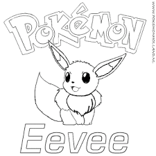 Small Picture Pokemon Eevee Coloring Pages Free Download Pokemon Coloring Page