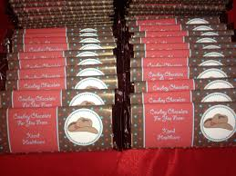 Personalized Chocolate Bar Wrappers for Trade Fairs   a party studio