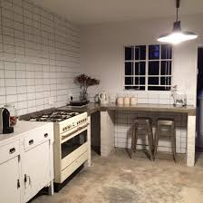 industrial themed furniture. Industrial Deli Themed. Concrete Counter Tops. Metro Tiles. Reclaimed Cabinet Themed Furniture