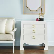 Grasscloth Coffee Table Bungalow 5 Jacqui 3 Drawer Side Table White Grasscloth