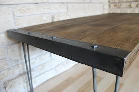 Amazon.com: Industrial Rustic Reclaimed Wood Coffee Table On Hairpin Legs:  Handmade