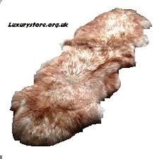 white brown double sheepskin rug natural soft wool medium sheep leather b00x4yb1i4