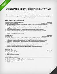 customer service resume examples objectives for customer service resumes
