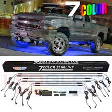 Led Undercarriage Truck Lights Details About Ledglow 6pc 7 Color Slimline Truck Underbody Underglow Smd Led Lighting Kit