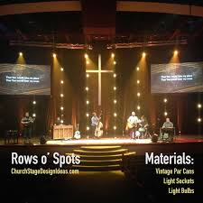 church lighting ideas. rows ou0027 spots stage design from christu0027s church in jacksonville fl lighting ideas