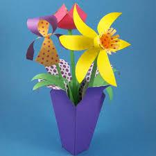 Paper Flower Bouquet In Vase Make A Spring Paper Flower Bouquet Party Decoration Craft
