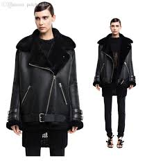2018 whole acne studios design high quality winter women faux soft men leather jackets black blazer zippers coat motorcycle men outerwear from
