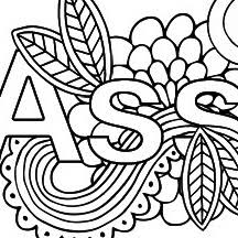 Coloring swear words can help manage your stress, release tensions & manage your anger. Free Printable Coloring Pages For Adults With Swear Words