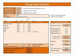 Pricing Template For Services 31 Price List Templates Doc Pdf Excel Psd Free