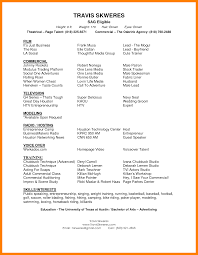 Agreeable Modeling Resumes Examples With Modeling Resume Template