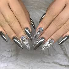 Image result for metallic nail designs
