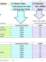 Table Exercise Chart Workout Schedule Template Free Word Excel ...