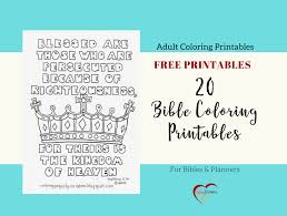 20 Free Bible Coloring Printables Bible Journal Love