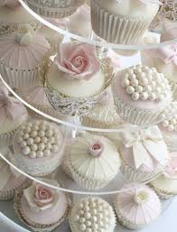 Roses And Pearls Wedding Cupcakes Cupcakes Gallery