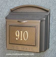 Bronze Whitehall Wall Mount Mailbox With Custom Sign  Shoppe