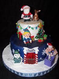 Christmas Cake Design Pinterest Coolest Christmas Scene Cake Reindeer Cakes Christmas
