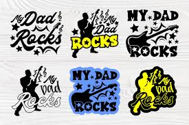Golf icons and vector packs for sketch, adobe illustrator, figma and websites. My Dad Rocks Svg Guitar Svg Fathers Day Svg Cut Files 575182 Cut Files Design Bundles