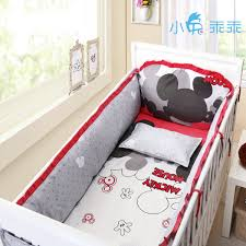 whole 4pc mickey mouse crib bedding pers size 130 70 140 70 minnie mouse bedding sets with per and filling