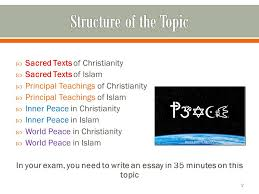 religion and peace revision summary ppt video online  in your exam you need to write an essay in 35 minutes on this topic