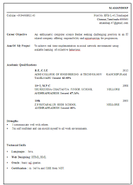 Resume Samples For Freshers Ece Engineers Resume Format For Freshers