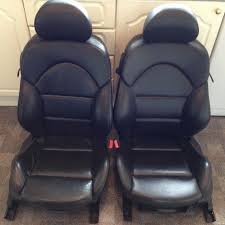 bmw 3 series e46 m3 coupe black leather interior seats