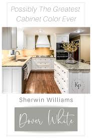 Kitchen Cabinets In Sherwin Williams Dover White Painted By Kayla