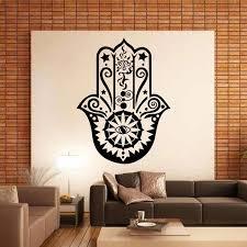 cute wall decor art design hamsa hand wall decal vinyl fatima yoga vibes sticker