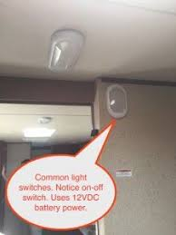 Jayco travel trailer common interior light fixtures with switches