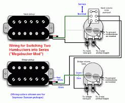 dvm s humbucker wiring mods page of  megabucker switch wiring configuration puts two humbuckers in series