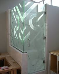 contemporary glass designs by etched carved sans soucie frosted glass shower enclosure uk
