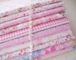 Fat Quarter Bundle / Light Blue Cotton Bundle Fabric / & Set of 10 Bundle / Pink Bundle Fabric / Quilting Fabric Bundle/ Pink Floral  Cotton Adamdwight.com