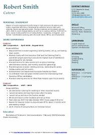 Join millions of others & build your free resume & land your dream job! Caterer Resume Samples Qwikresume