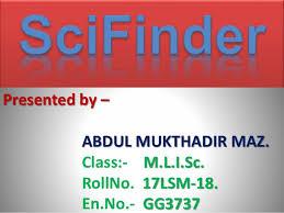 Sci Ppt Sci Finder Ppt