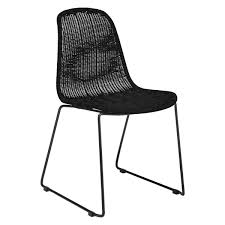 black wicker dining chairs. MICKEY Black Synthetic Rattan Dining Chair Buy Now At Wicker Indoor Chairs A