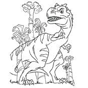 Kleurplaat Dinosaurus 3784