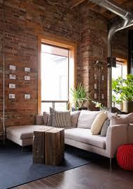 Industrial Living Room Decor Furniture Industrial Living Room With Antlers Wall Decor And
